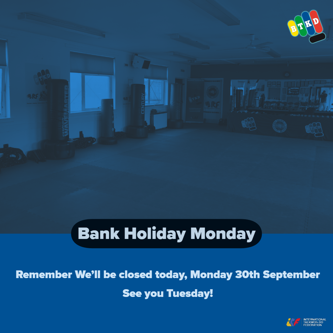 Closed Monday 30th September